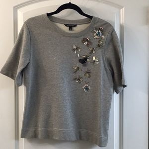 Banana Republic bug embellished sweatshirt